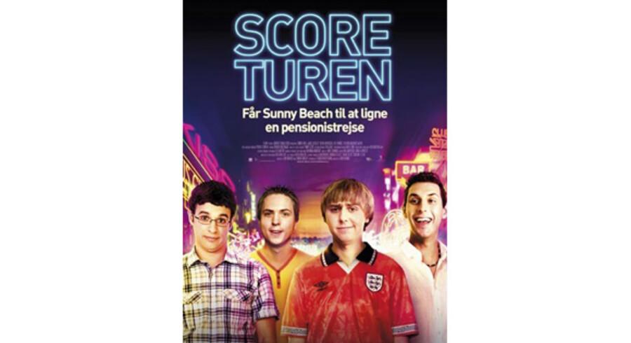 """Filmplakaten for """"Scoreturen"""", der er instrueret af Ben Palmer."""