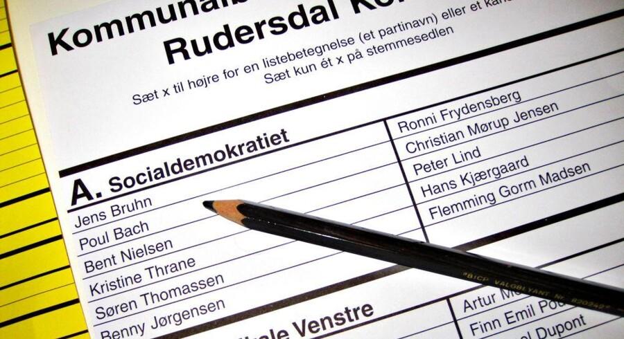 Næste gang kan blyanten blive i pennalhuset - nu skal danskerne begynde at stemme digitalt. Arkivfoto: Steffen Ortmann, Scanpix