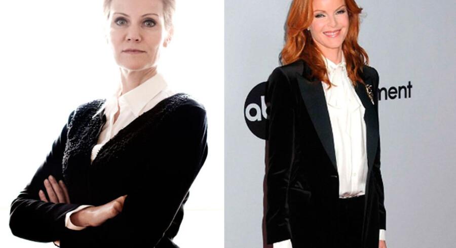 Det franske nyhedsbureau AFP synes Helle Thorning-Schmidt minder om karakteren Bree van der Kamp (spillet af Marcia Cross) i tv-serien Desperate Housewives.