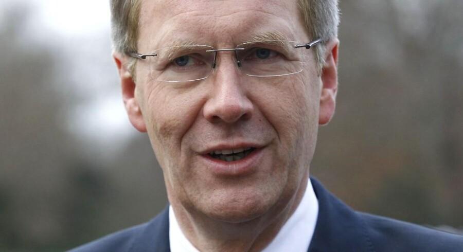 Den tyske præsident, Christian Wulff, beskyldes for at have talt usandt.