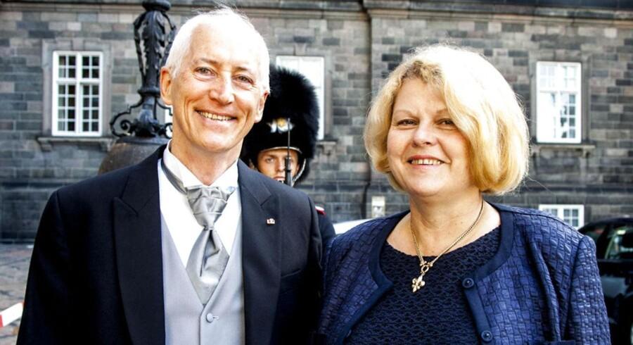 Den hollandske ambassadør, Eduard Middeldorp, og hans hustru, Hélène, var i afskedsaudiens. Middeldorp har været ambassadør i Danmark i fire år.