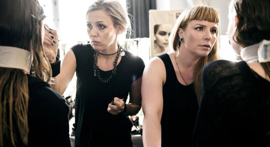Kollektionen af »Barbara I Gongini« fotograferes på Københavns Rådhus i anledning af modeugen.