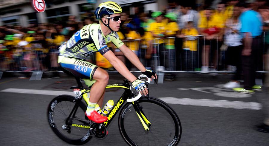 Michael Valgren (bill.) blev nummer to i gadeløbet i Kolding.