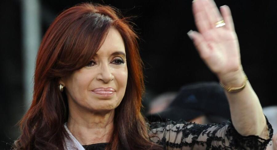 Den 58-årige Cristina Fernandez blev i oktober genvalgt til præsidentembedet med en jordskredssejr.