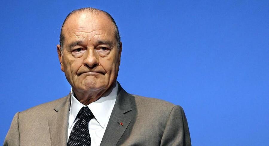 Frankrigs tidligere præsident Jacques Chirac.