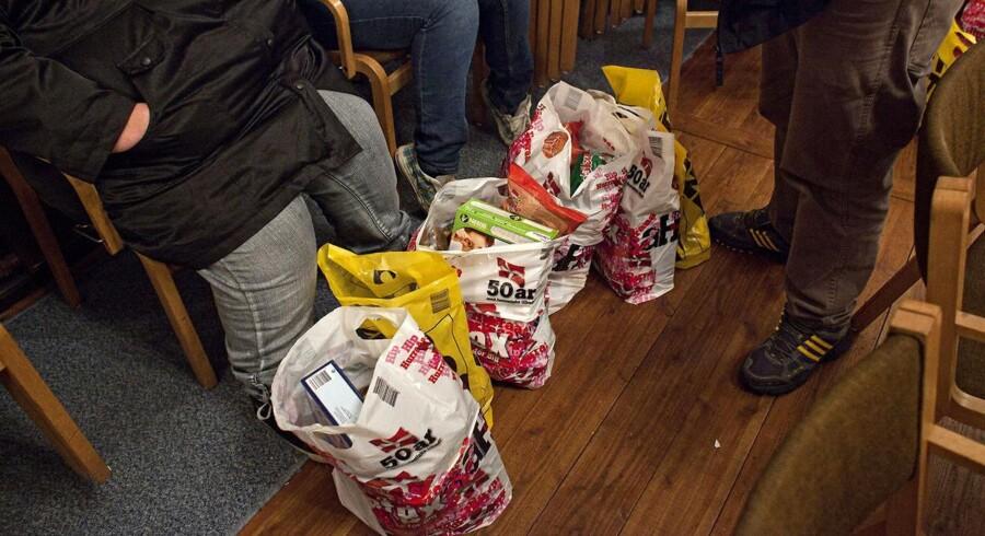 Hos Frelsens Hær oplever de stort set hvert år, at omkring 1.000 søger julehjælp, selv om de langt fra er berettigede. De får dog ingen hjælp. - Arkivfoto.