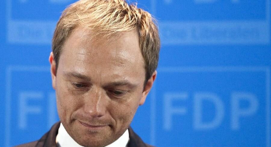 FDP's generalsekretær Christian Lindner forlader nu sin post.