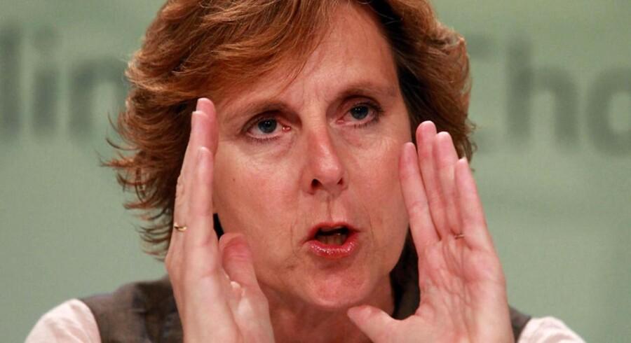EUs klimakommissær Connie Hedegaard ved det afsluttende pressemøde på COP 17s sidste dag søndag.