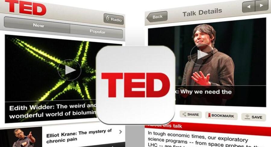 Online-fænomenet TED Talks kan nu også opleves på iPone og iPad.