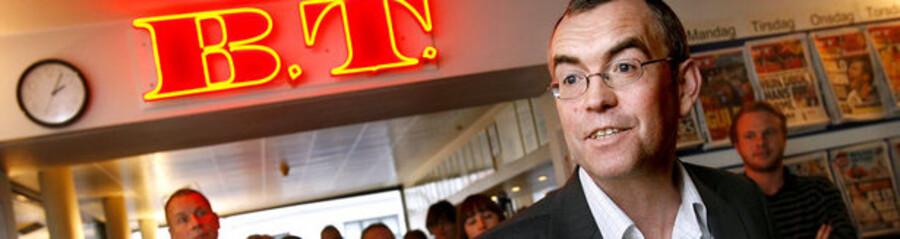 Arne Ullum, ansvarshavende chefredaktør på B.T. , meddelte onsdag d. 30. januar 2008 kocernledelsen i Berlingske at han ønsker at stoppe. Her meddeler Ullum B.T.s medarbejdere om sin beslutning.