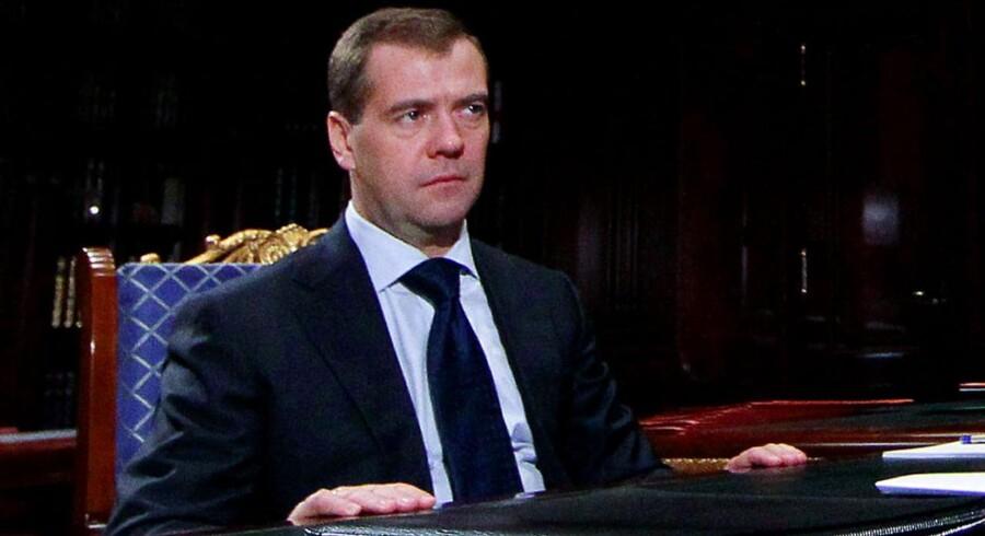 Ruslands præsident Dmitrij Medvedev.