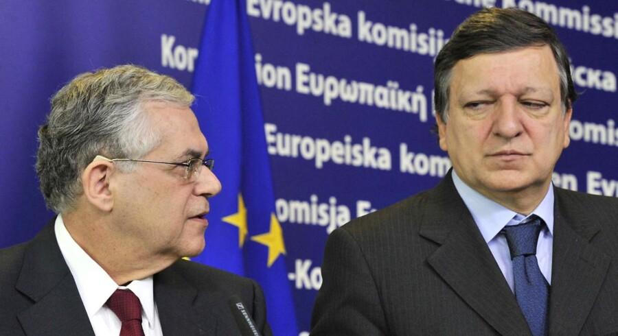Papademos erkendte efter at have mødt EU-præsident Herman Van Rompuy og kommissionsformand José Manuel Barroso, at han stadig ikke har det brev, EU-Kommissionen og eurogruppen har bedt om for at ville udbetale næste lånerate.