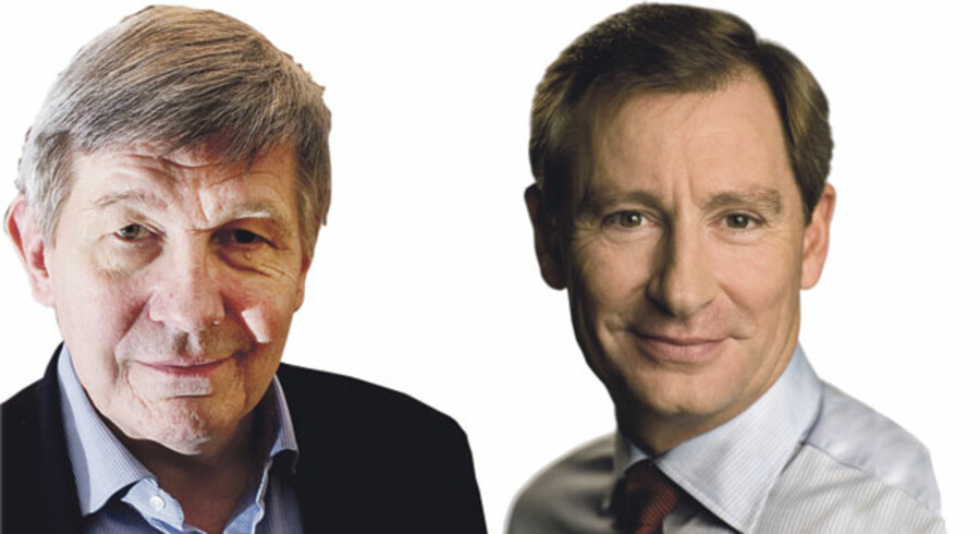 Ralf Hemmingsen Rektor ved Københavns Universitet og Jørgen A. Horwitz Direktør i Finansrådet