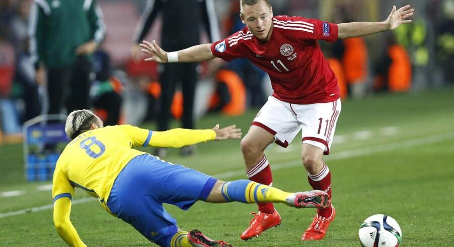 Uffe Bech scorede Danmarks eneste mål i 1-4-nederlaget til Sverige i semifinalen ved U21 EM.