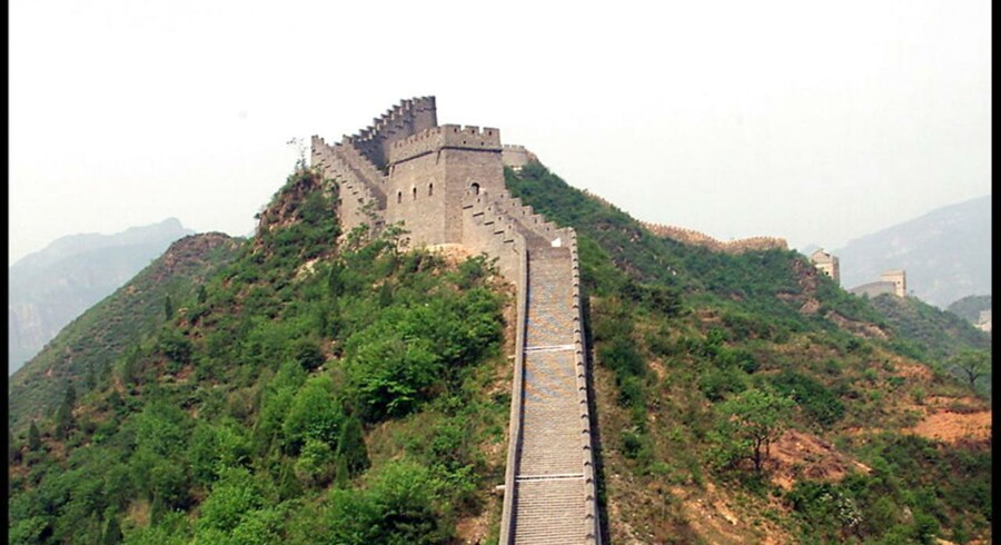 Den kinesiske mur. ARKIVFOTO.