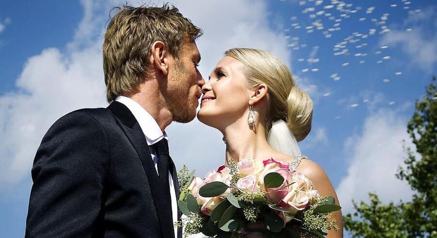 Allan Nielsen og Tina Lund bryllup i Næsby kirke