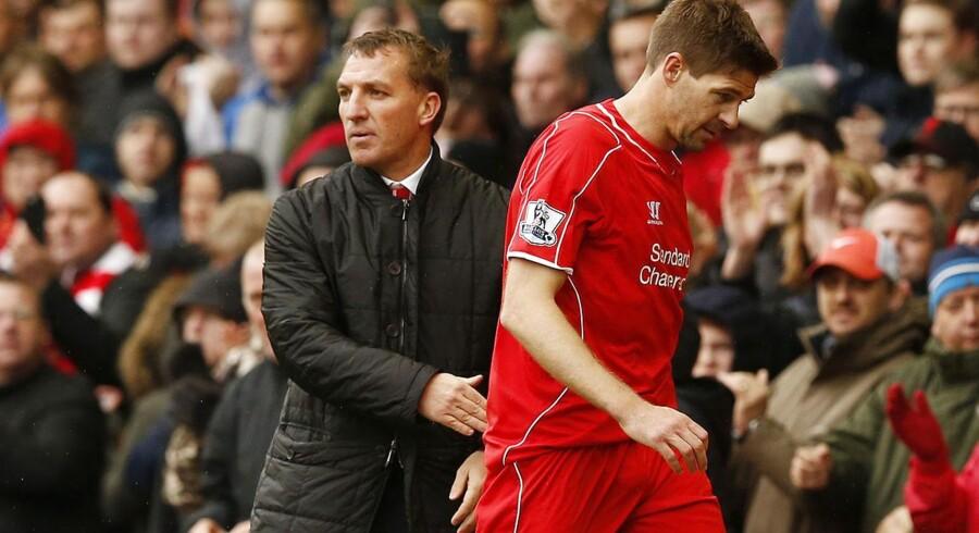 Steven Gerrard var ikke tilfreds med Brendan Rodgers beslutning om at bænke anføreren før den store kamp mod Real Madrid i november 2014.