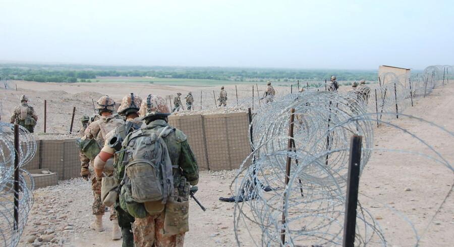 Danske soldater forlader den fremskudte base Budwan ved Helmand floden for at gå på patrulje