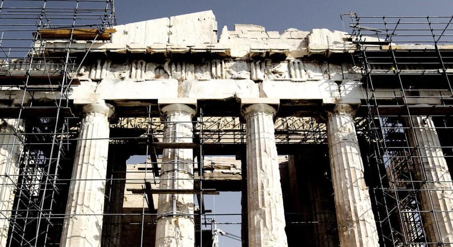 Et demokrati i ruiner. Selv Parthenon falder fra hinanden.