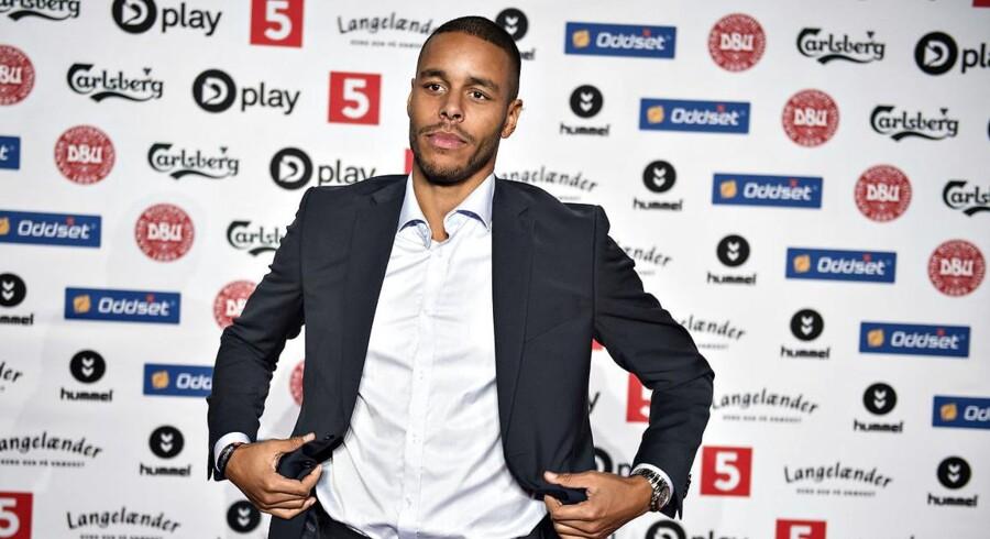 Arkivfoto: Mathias Zanka Jørgensen er en af de Superliga-anførerer, der skal bære det regnbuefarvede anførerbind i weekenden. Han har været frontløber på kampagnen.