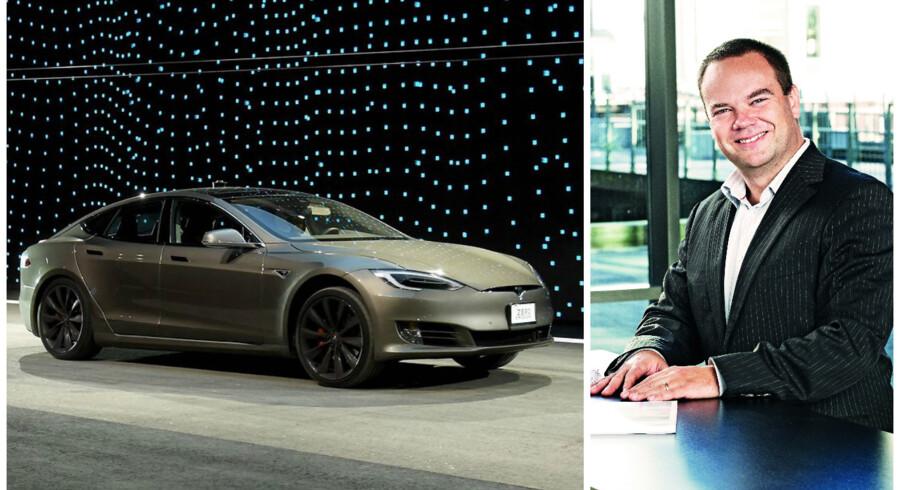 Teslas Model S og Jakob Sand.
