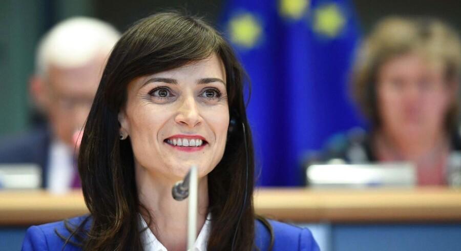 Mariya Gabriel fra Bulgarien er godkendt som EU-kommissær for den digitale økonomi og det digitale samfund. / AFP PHOTO / EMMANUEL DUNAND