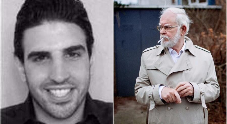 Basil El-Cheikh Hassan (t.v.) blev sidste år i december efterlyst internationalt af Københavns Politi. Basil El-Cheikh Hassan er mistænkt for drabsforsøg på debattøren Lars Hedegaard (t.h.) 5. februar 2013. I kronikken søger Basil El-Cheikh Hassans fætter, Chadi El-Cheikh Hassan, et svar på, hvorfor Basil Hassan er mistænkt for terrorisme, mens han selv i dag lever et normalt liv. Foto: Københavns Politi/Scanpix og Bax Lindhardt
