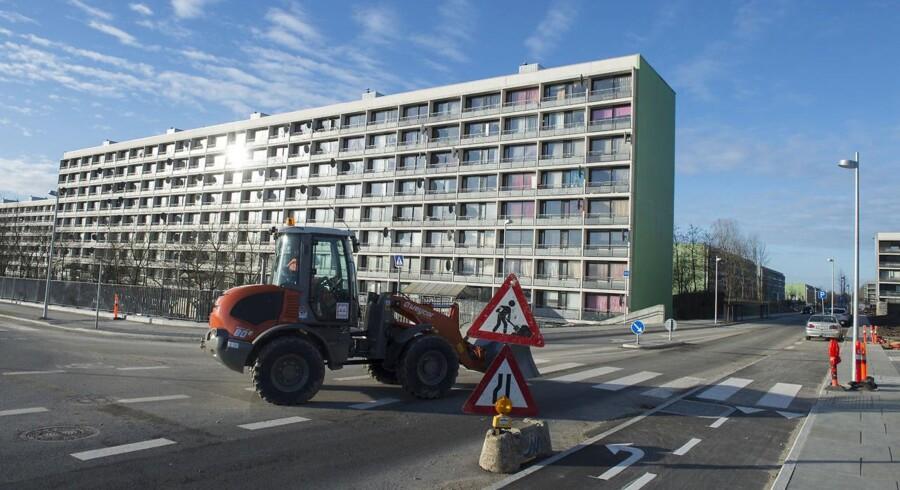 Arkivfoto. Fem boligblokke med 300 boliger er blevet revet ned i Gellerup og Toveshøj i Aarhus.
