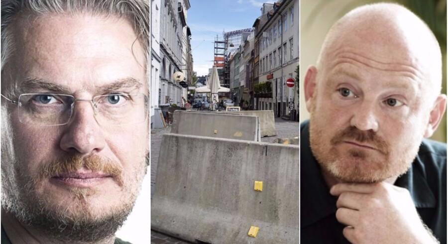 Betonklodserne, der fungerer som terrorsikring i København, skal males eller udskiftes. Men kan terrorværn blive for hyggeligt? Ja, mener Henrik Dahl - nej, mener Morten Kabell.