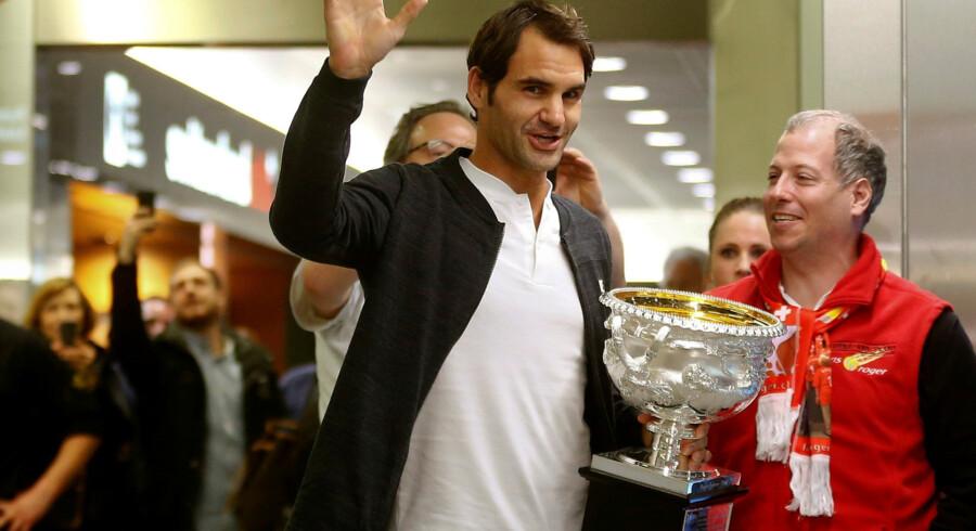 Roger Federer har rundet 35 r, men han forventer at spille adskillige sæsoner endnu. Reuters/Arnd Wiegmann