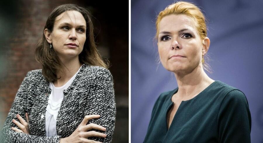 Undervisningsminister Merete Riisager (LA) og integrationsminister Inger Støjberg (V) ser forskelligt på håndteringen af de såkaldte ghettoskoler.