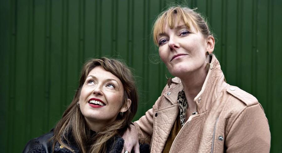 Portræt af Louise Mieritz og Ditte Hansen. TV-serien »Ditte og Louise« blev på trods af anmelderroser taget af DRs program.