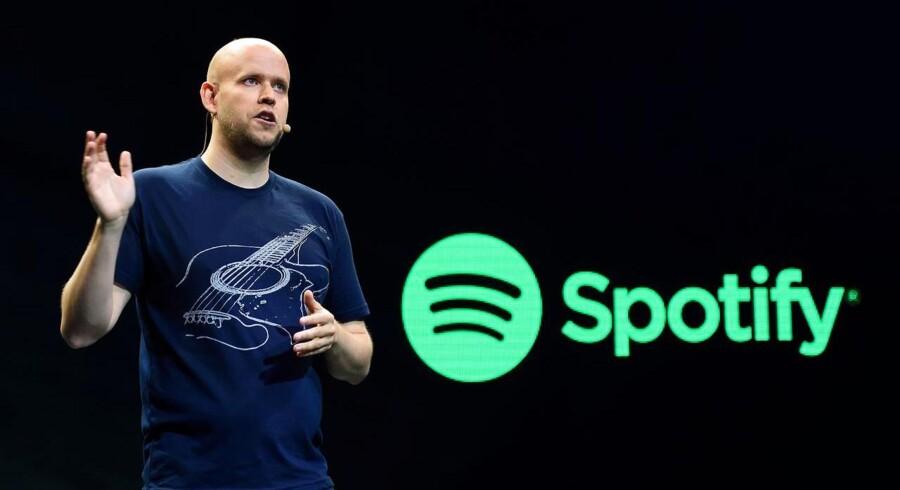 Spotifys topchef, Daniel Ek, er kun interesseret i at sælge, hvis musiktjenesten kan blive endnu større. Arkivfoto: Don Emmert, AFP/Scanpix