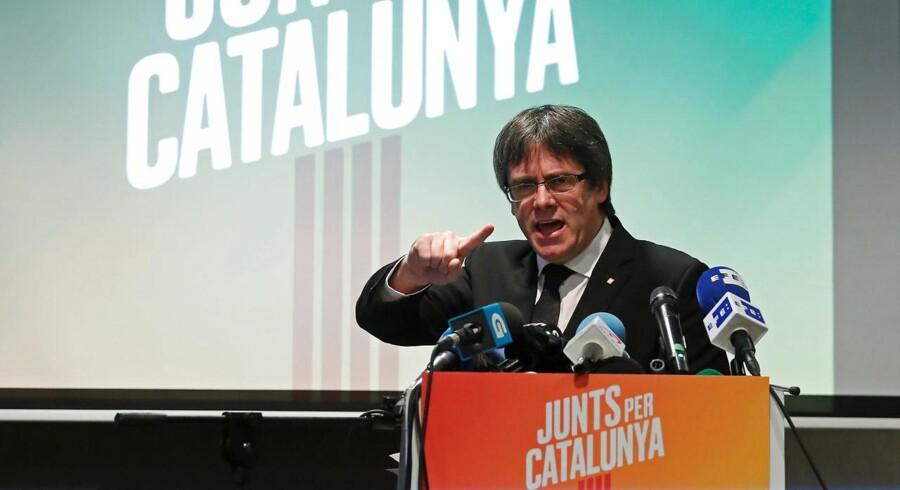 Vil arrangørerne af regionsvalg i Catalonien acceptere valgresultatet? Spørger Carles Puigdemont på valgmøde.