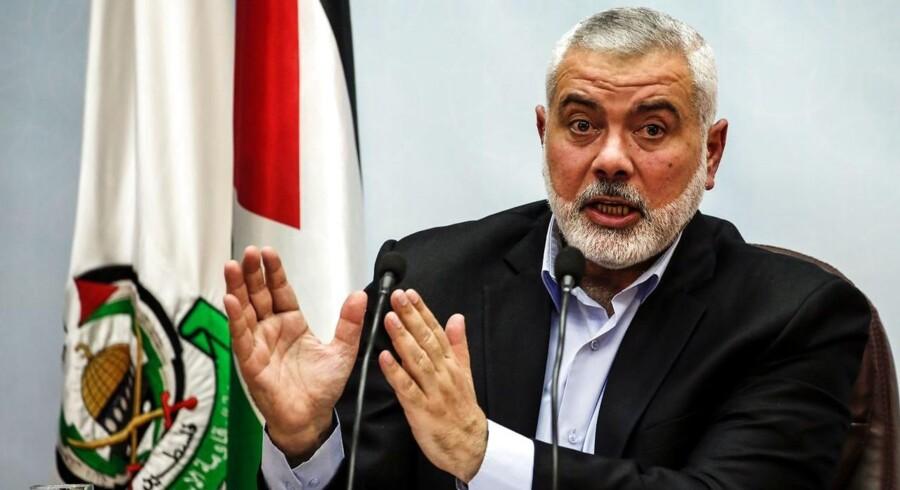 ARKIVFOTO: Lederen af Hamas Ismail Haniya