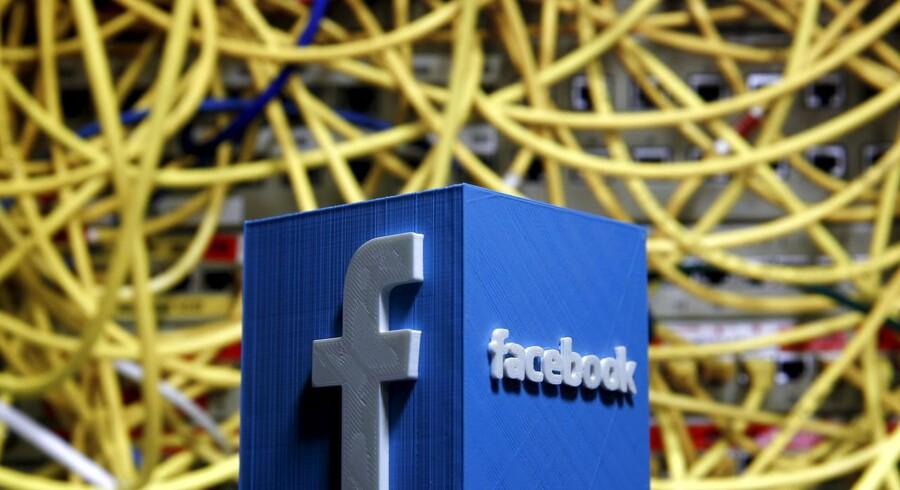Den amerikanske, børsnoterede virksomhed Facebook får kraftig kritik for sin massive indsamling af data om folk - også om dem, der slet ikke bruger Facebook. Arkivfoto: Dado Ruvic, Reuters/Scanpix