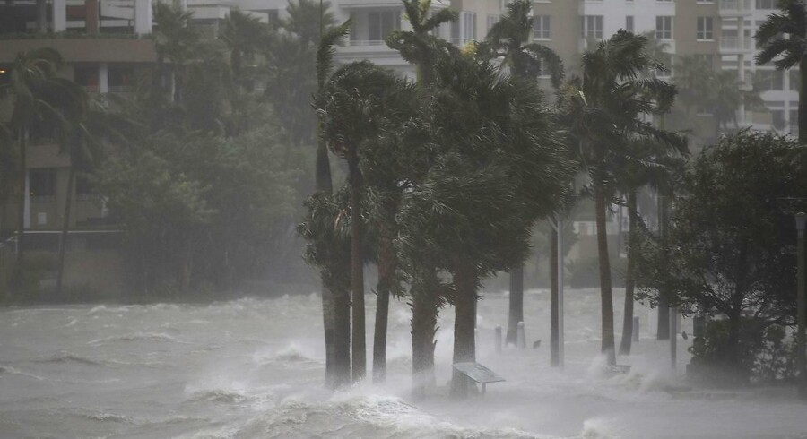 Miami River under orkanen Irma. Joe Raedle/Getty Images/AFP