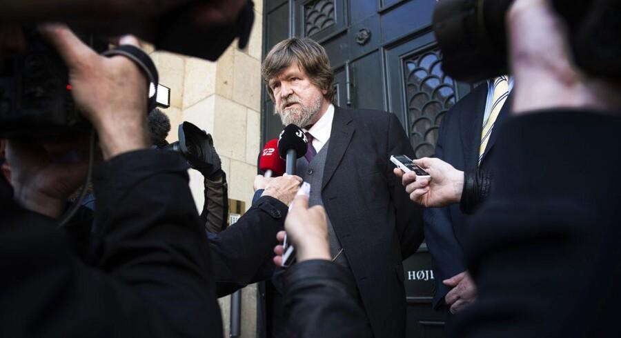 Jørgen Dragsdahl udenfor Højesteret efter sidste uges dom.