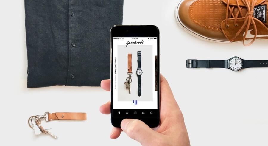 Den nye Garderobe-app er modeverdenens svar på Instagram. Foto: PR