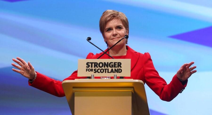 - Der er ikke nogen rationel grund til, at Storbritannien skulle forlade det indre marked, og der er heller ikke noget mandat til det heller, siger Sturgeon i en tale på Det Skotske National Partis konference. Arkivfoto.