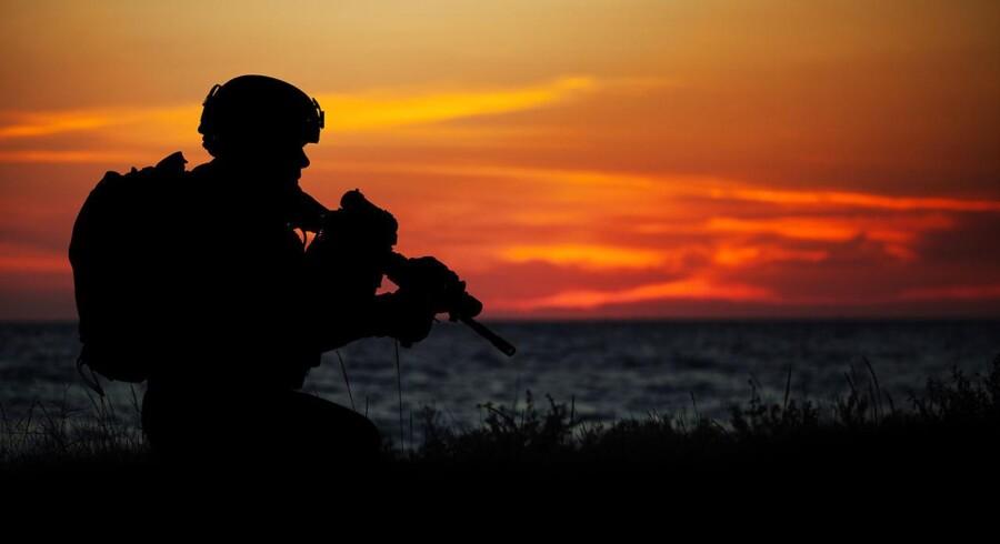 Arkivfoto. Hundredvis af amerikanske soldater er sat ind i Syrien, hvor et afgørende slag forberedes ved byen Raqqa.