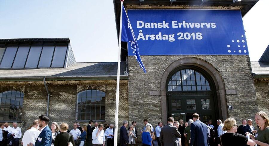Fra Dansk Erhverv årsdag i Øksnehallen i København 16 maj 2018. (Foto: Liselotte Sabroe/Ritzau Scanpix)
