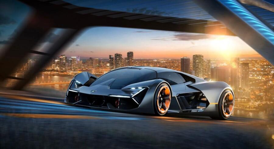 Fremtidens Lamborghini? Projektet Terzio Millennio er et samarbejde mellem den italienske sportsvognsmager og det amerikanske tekniske universitet MIT