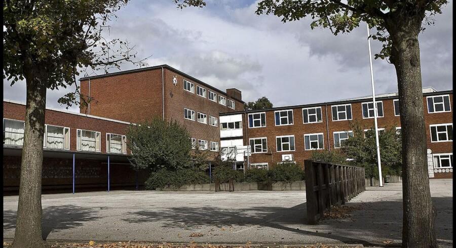 Arkivfoto: Asbesten blev fjernet fra Marielyst Skole i midten af 1980'rne. Skolen er i dag lagt sammen med Grønnemose Skole i Søborg.