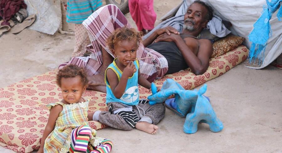 En flygtningelejr nær Aden, Yemen. 27. maj 2018.