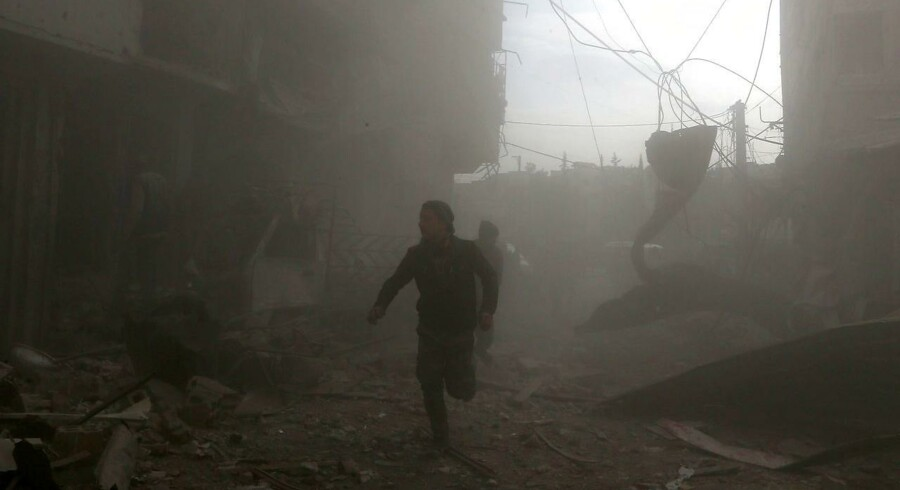 I fire dage har det østlige Ghouta i Syrien været udsat for voldsomme bombardementer. Civile er dræbt. Foto: ABDULMONAM EASSA
