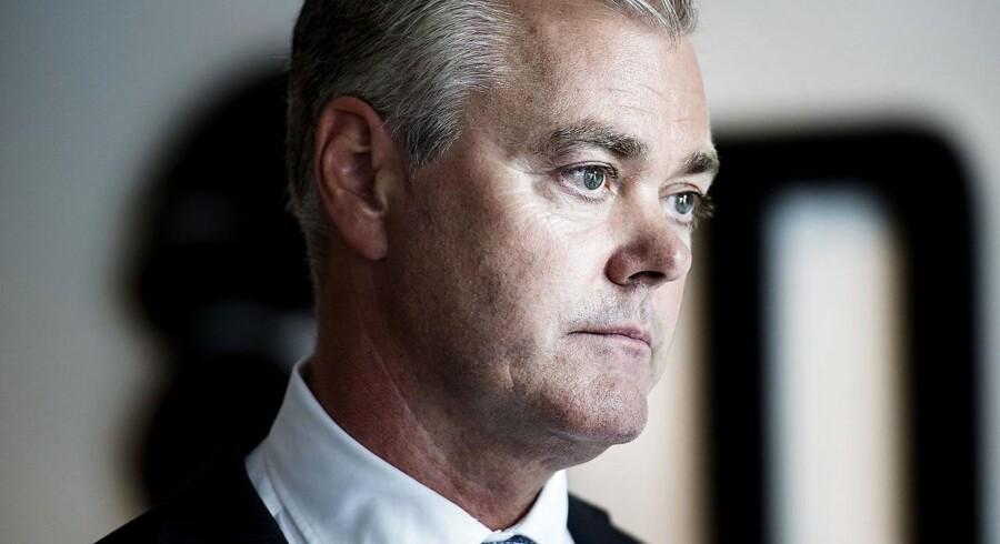 »Jeg kan sagtens forstå, hvis nogle af vores aktionærer er skuffede, hvis man alene ser på situationen på kort sigt,« siger topchefen i Nets, Bo Nilsson. Foto: Liselotte Sabroe