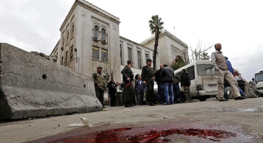 En selvmordsbomber rystede søndag den østlige del af den syriske hovedstad Damaskus.