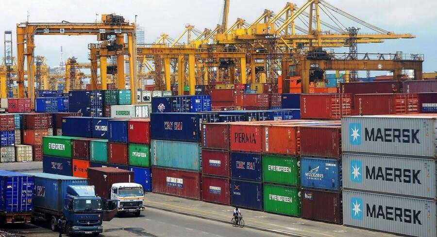 Der kom flere containere ud og flere containere ind i Kina, da både eksporten og importen steg med henholdsvis 5,1 pct. og 10,9 pct.