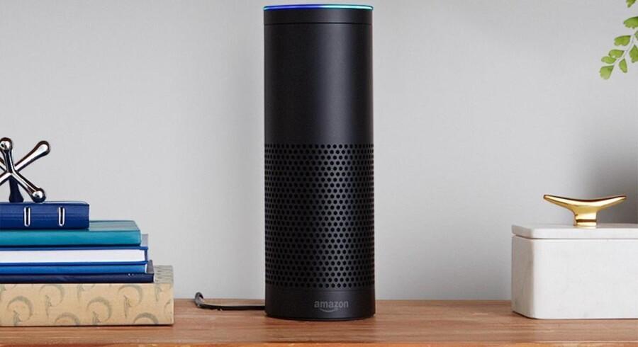 Amazon planlægger et billigere musikabonnement til dem, der har købt Echo-højttaleren, der betjenes gennem Amazons digitale assistent. Foto: Amazon